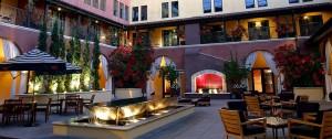 Hotel Valencia Court Yard.